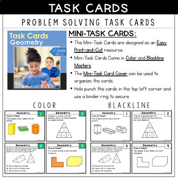 TEKS TASK CARDS ~ GEOMETRY 3.6A 3.6B  Great for STAAR Prep!