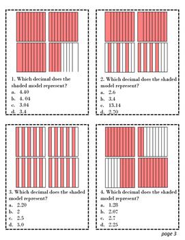 TEKS Task Cards 4.2 G Decimals to Fractions Full