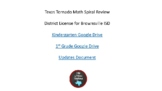 TEKS Texas Tornado Math Spiral Review Customized for Brown