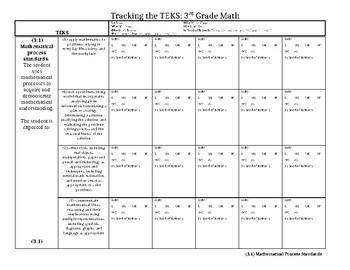 TEKS Tracker: 1st Grade Math