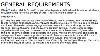 TEKS and Targets for Theatre I