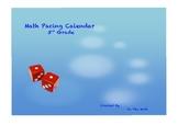 TEKS based 3rd Grade Math Pacing Calendar
