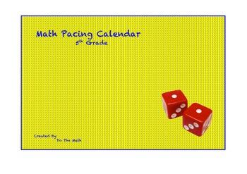 TEKS based 5th Grade Math Pacing Calendar