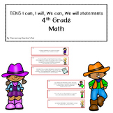 TEKS can/will statements-4th Grade-Math