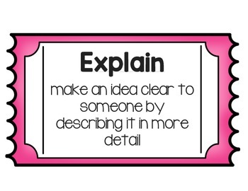 TEKS verbs- Posters and Work Station Ideas