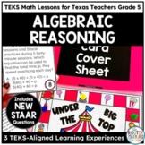 Texas STAAR Math Scholar: Algebraic Reasoning Grade 5
