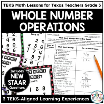 Texas STAAR Math Scholar: Estimation and Operations with Whole Numbers Grade 5