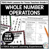 Whole Numbers Operations | TEKS Math Activities