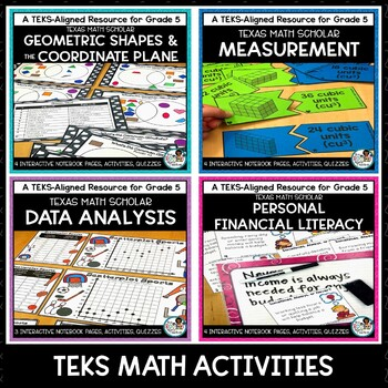 5th Grade TEKS Math Curriculum Bundle