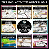 5th Grade TEKS Math Activities & Printables Bundle