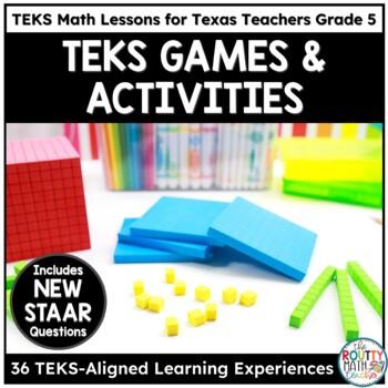 5th Grade Math Activities | TEKS Math Bundle