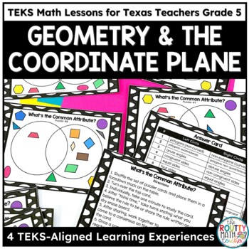 Shape Attributes and The Coordinate Plane- TEKS Math Activities