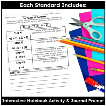 Place Value, Decimals & Order of Operations- TEKS Math Activities & Printables