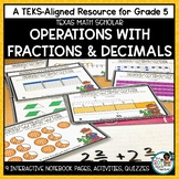 Operations with Fractions and Decimals- TEKS Math Activities & Printables