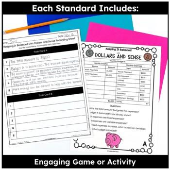 Personal Financial Literacy- TEKS Math Activities & Printables