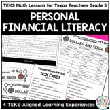 Personal Financial Literacy- TEKS Math Activities & Printables