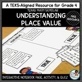 Understanding Place Value- TEKS Math Activity & Printables Sample