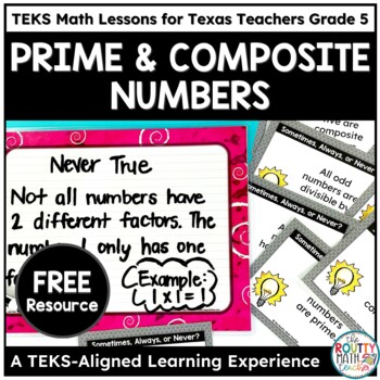 Prime and Composite Numbers- TEKS Math Curriculum Sample