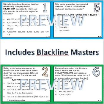 TEKs Based Whole Number Place Value Task Cards