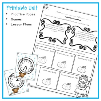 TELLING TIME GAMES, WORKSHEETs, LESSON PLANS, AND MORE 1 WEEK COMPLETE UNIT