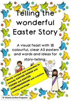 TELLING THE WONDERFUL EASTER STORY-18 posters and ideas for teaching