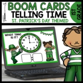 Telling Time to the Hour and Half Hour Boom Cards St. Patr