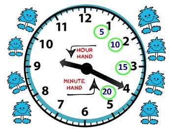 TELLING TIME TO 5 MINUTES BUNDLE