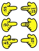 TELLING TIME CLOCK HAND LABELS