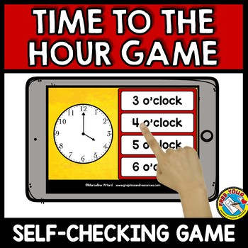 TELLING TIME TO THE HOUR GAME (MEASUREMENT ACTIVITIES FOR KINDERGARTEN)