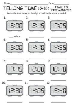 photograph regarding Telling Time Worksheets Printable identify TELLING Year WORKSHEETS/PRINTABLES/CLIPART