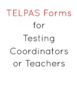TELPAS Forms for Writing Samples