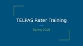 TELPAS Rater Training EDITABLE Spring 2018