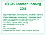 TELPAS Teacher Training with Bookmarks