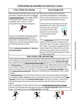 TELPAS Writing Tips for Content Area Teachers