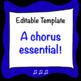 Chorus Handbook/Syllabus ~ Editable tri-fold Template