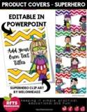 PRODUCT COVERS TEMPLATE - SUPER HEROS - EDITABLE IN POWERPOINT