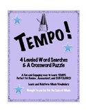 TEMPO: 4 Word Searches and a Crossword Puzzle