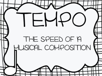 TEMPO WORD WALL FOR YOUR MUSIC ROOM