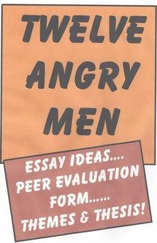 TWELVE ANGRY MEN - Reading through the play and writing from it.