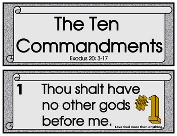 TEN COMMANDMENT SCROLLS WITH PICTURES