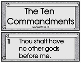 TEN COMMANDMENT SCROLLS