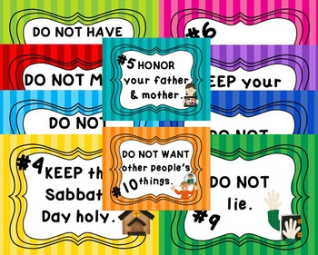 TEN COMMANDMENTS BIBLE Practice Pack 10 COMMANDMENTS Reading Text Writing Memory