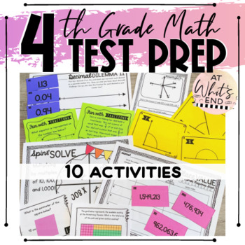 TEST PREP: 4th Grade Math - EOY Math Stations (CCSS and TEKS ALIGNED!)