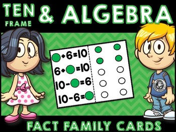TEN FRAME AND ALGEBRA CARDS
