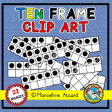TEN FRAMES CLIPART (NUMBERS 0 TO 10 MATH CLIP ART)