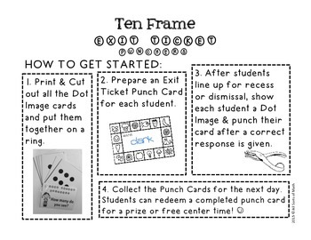 TEN FRAME Exit Ticket Punchers {Kinder/Gr 1}