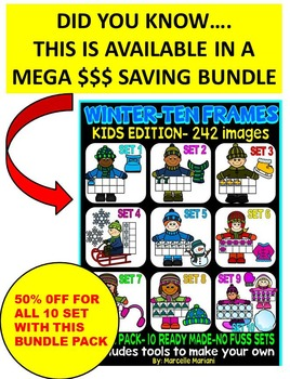 TEN FRAME KIDS- WINTER EDITION- SET 10- COMMERICAL USE