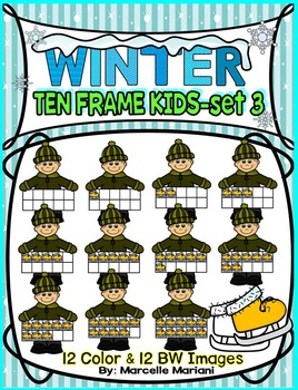 TEN FRAME KIDS- WINTER EDITION- SET 3- COMMERICAL USE