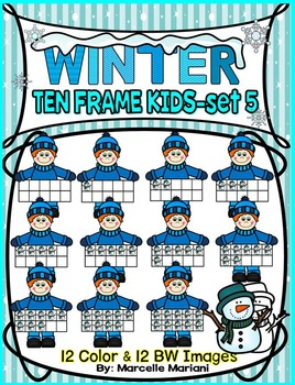 TEN FRAME KIDS- WINTER EDITION- SET 5- COMMERICAL USE
