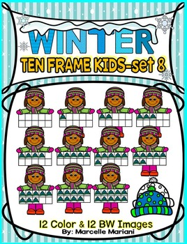 TEN FRAME KIDS- WINTER EDITION- SET 8- COMMERICAL USE